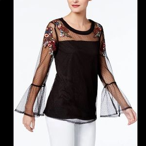 New NY Collection Chic Top Medium Black